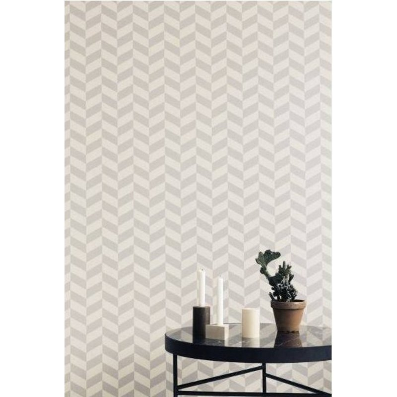 ferm LIVING-collectie Angle gray wallpaper