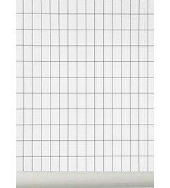 ferm LIVING-collectie Behang Grid zwart-wit