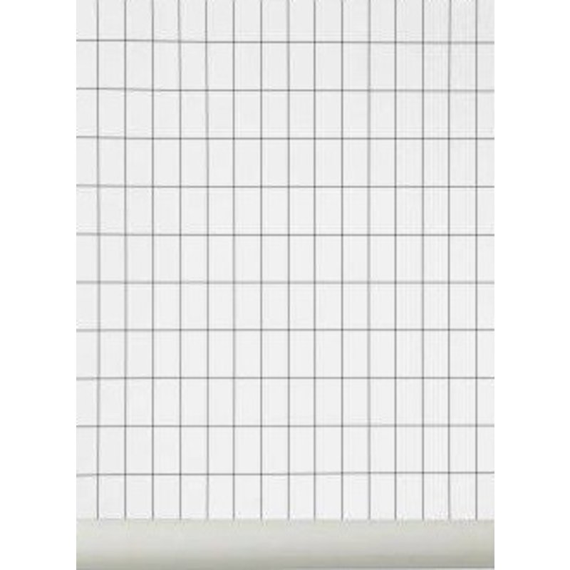ferm LIVING-collectie Behang Grid zwart-wit
