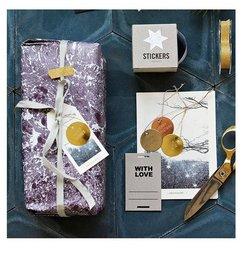 House Doctor-collectie Metalen cadeaulabels messing set (8)