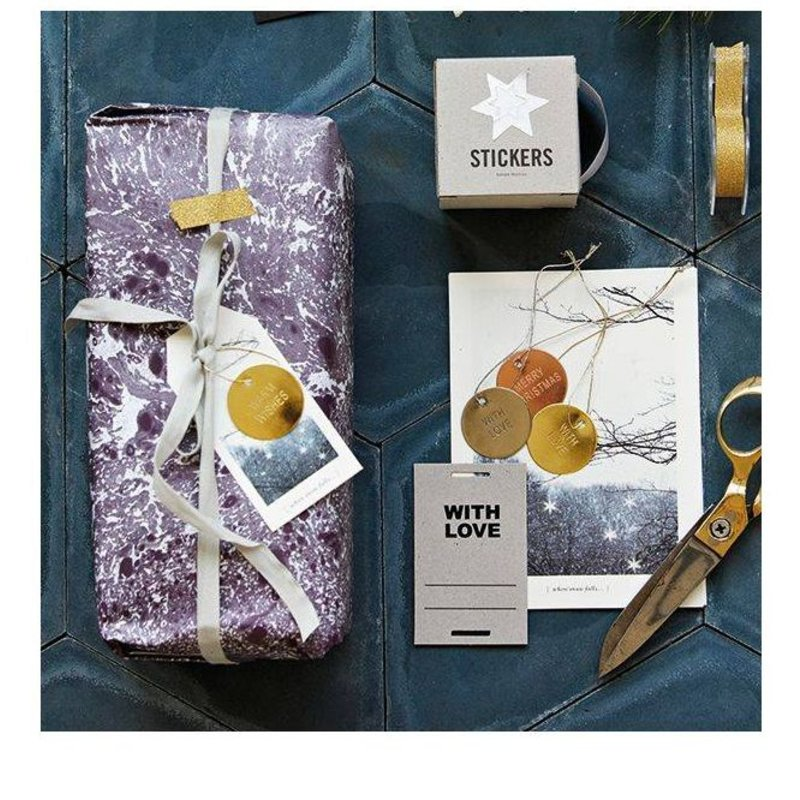 House Doctor-collectie Metal gift tags brass set (8)