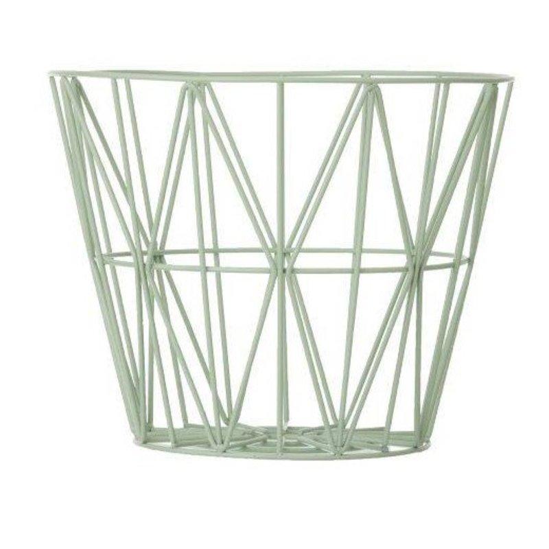 ferm LIVING-collectie Wire basket mint