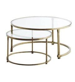 Madam Stoltz-collectie End Tables brass glass