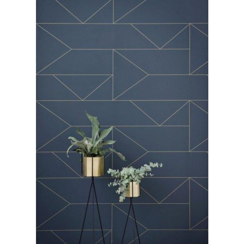 ferm LIVING-collectie Lines Wallpaper - Dark Blue