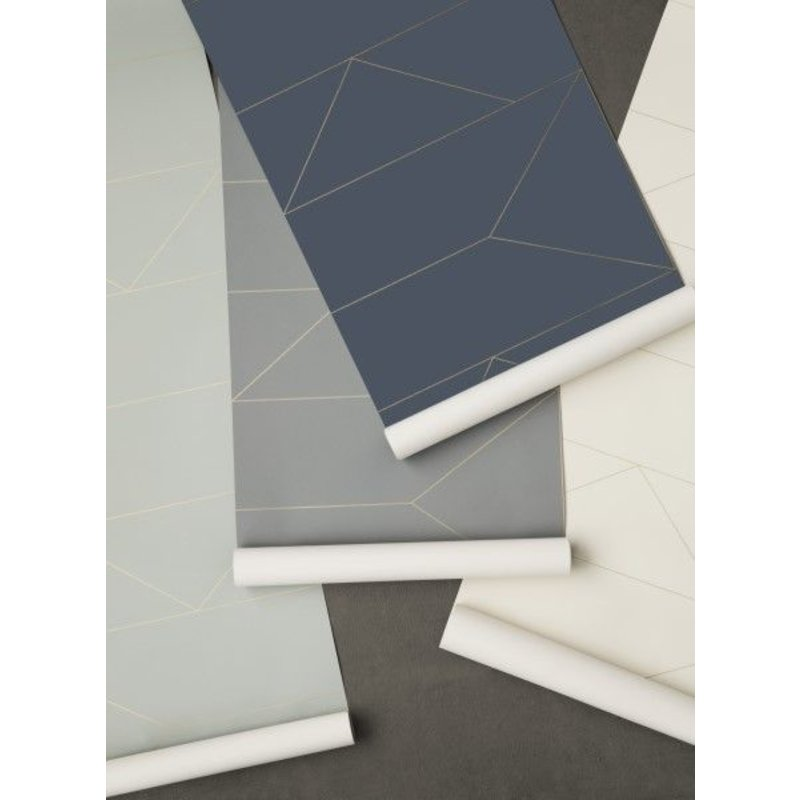 ferm LIVING-collectie Lines Wallpaper - Grey