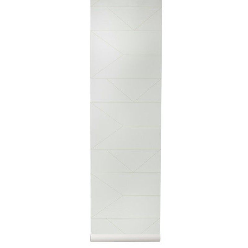 ferm LIVING-collectie Behang Lines - Off-white