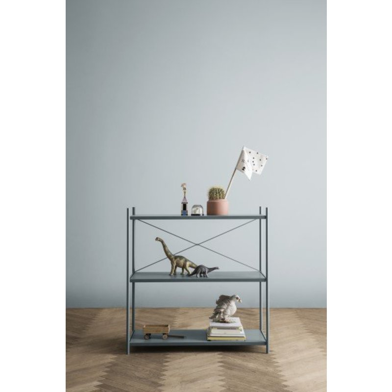 ferm LIVING-collectie Punctual kast systeem -Dusty blauw-1x3