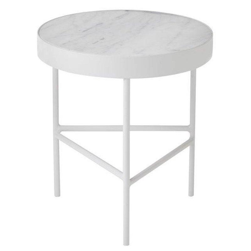 ferm LIVING-collectie Tafeltje wit marmer