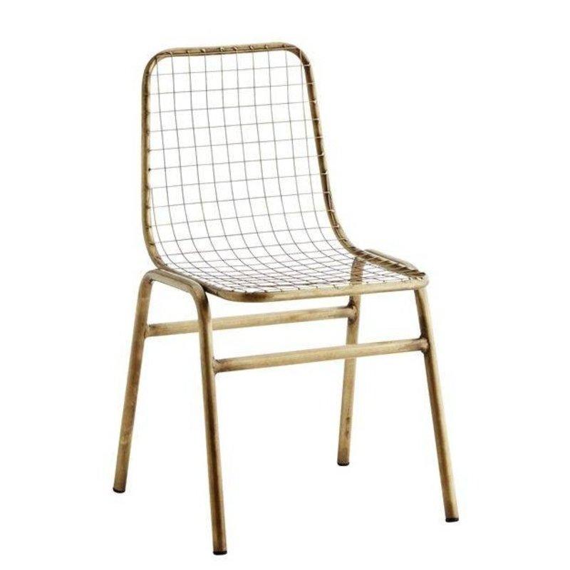 Madam Stoltz-collectie Chair antique brass