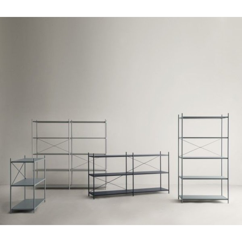 ferm LIVING-collectie Punctual Shelving System -Dusty Blue-2x7