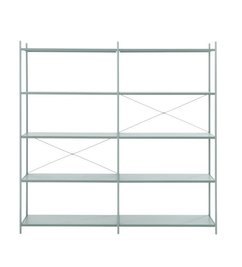 ferm LIVING-collectie Punctual Shelving System -Dusty Blue-2x5