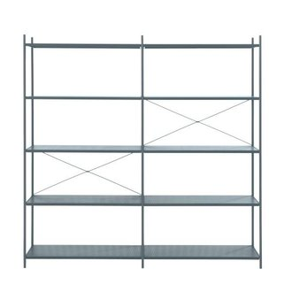 ferm LIVING Punctual Shelving System -Dark Blue-2x5