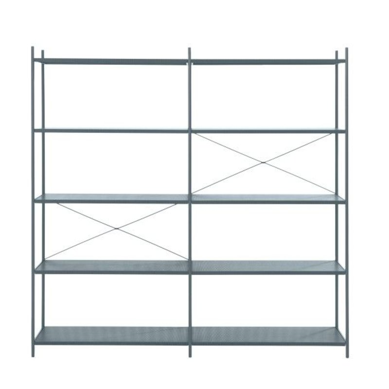 ferm LIVING-collectie Punctual Shelving System -Dark Blue-2x5
