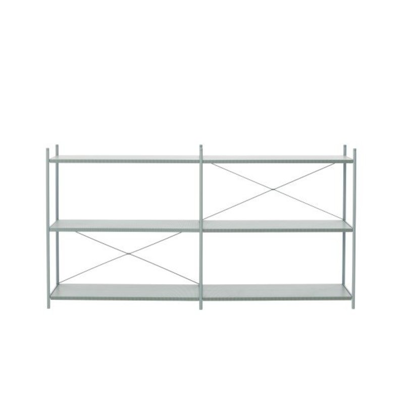 ferm LIVING-collectie Punctual Shelving System -Dusty Blue-2x3