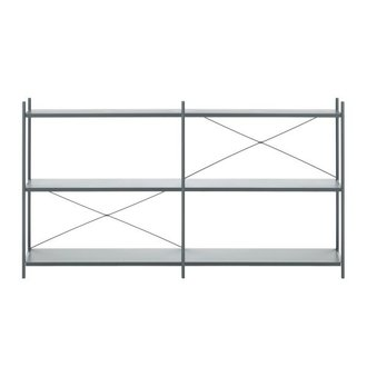 ferm LIVING Punctual Shelving System -Dark Blue-2x3