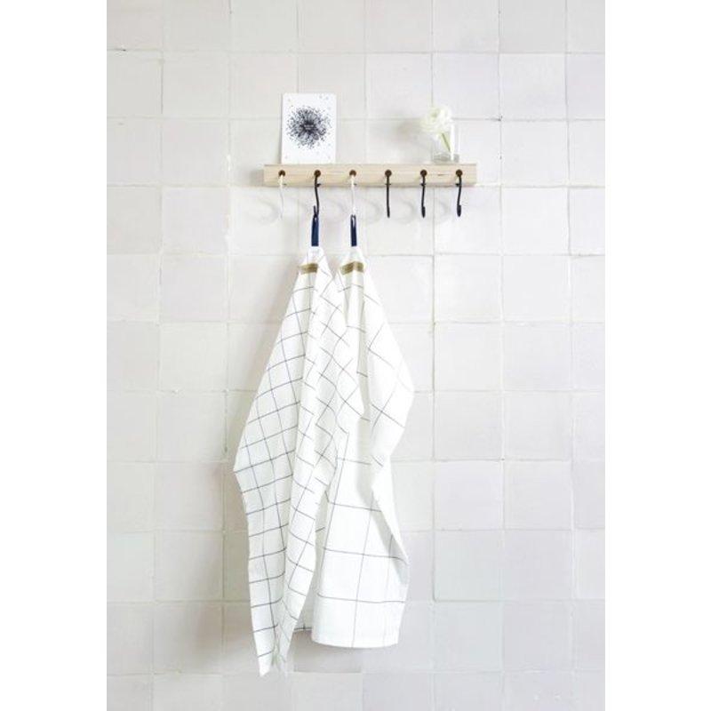 E|L by DEENS.NL-collectie Keesje coat with black - white crochet