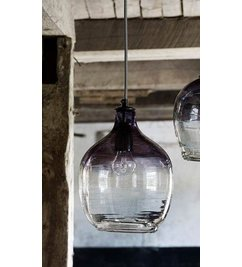 Nordal-collectie Hanging lamp 'BUBBLE' smoke H: 26 cm