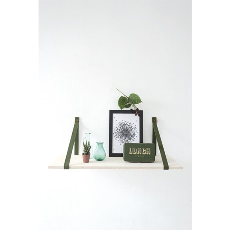 E|L by DEENS.NL-collectie Plankdragers 'PIEN' canvas army green