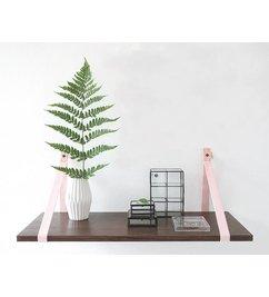 E|L by DEENS.NL-collectie Set (2) shelf brackets 'PIEN' canvas light pink
