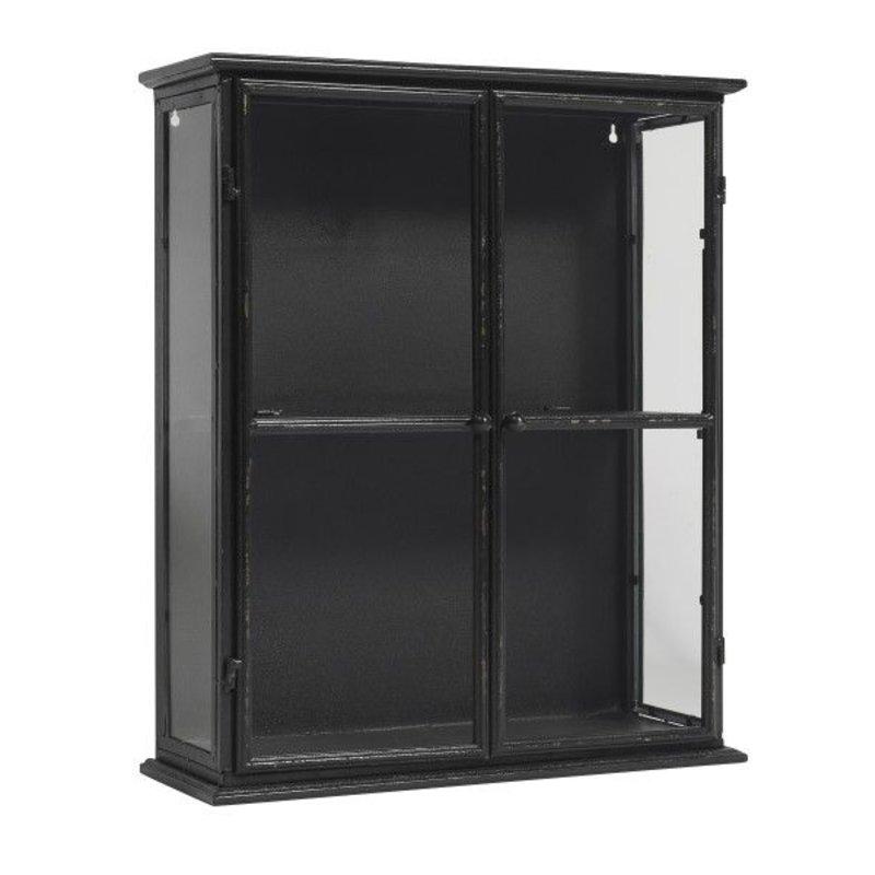 Nordal-collectie Metalen wandkast zwart DOWNTOWN