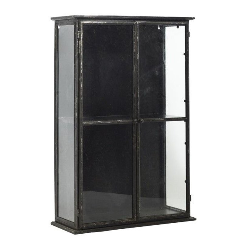 Nordal-collectie DOWNTOWN iron wall cabinet, black