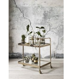 Nordal-collectie Trolley brass - glass