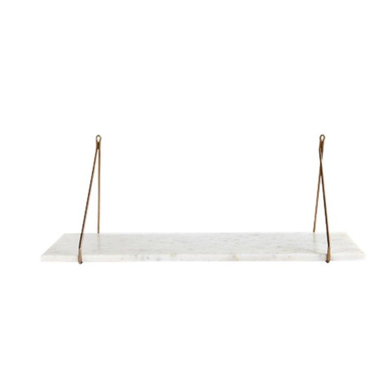 House Doctor-collectie Wit marmeren wandplank 'Marble'