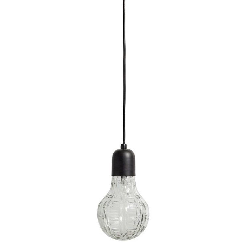 Nordal-collectie Hanging lamp Crystal bulb black