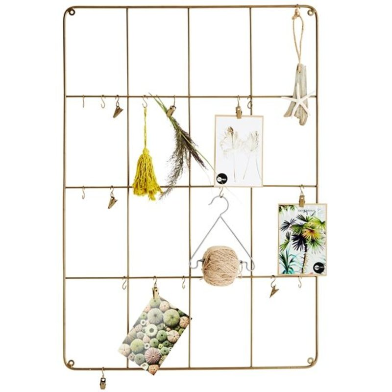 Madam Stoltz-collectie Wall frame w/ hooks and 10 clamps