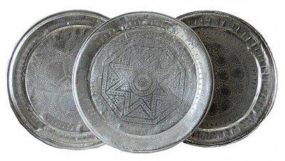 Handgemaakte Marokkaanse vintage dienbladen