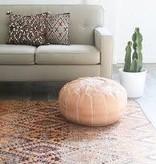 simply pure Authentieke, Marokkaanse poef van 100% kalfsleer ( Naturel)