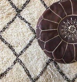 Moroccan ottoman ( Colour: dark brown)