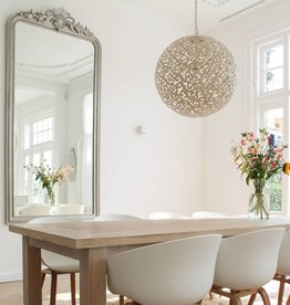 B Qualitaet Hängelampe Design ORIENTE Farbe: Antikweiss / Durchmesser 40 cm