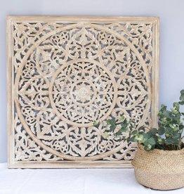simply pure Houtsnijwerk wanddecoratie BLOSSOM whitewash