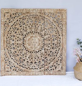 simply pure Hand carved wall panel Design SOLINO whitewash