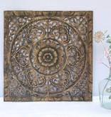 simply pure Handgeschnitztes Wandpaneel Design ORNAMENTO, Farbe: antikschwarz, verschiedene Abmessungen