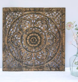 Hand carved wall panel Design ORNAMENTO, colour: antique black, different sizes