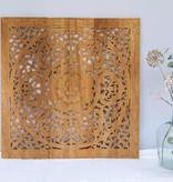 simply pure Handgesneden wandpaneel Design ORNAMENTO, kleur: naturel, verschillende afmetingen