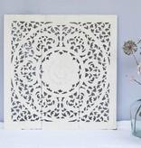 Handgesneden wandpaneel Design ORNAMENTO, kleur: wit, verschillende afmetingen