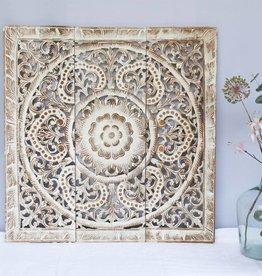 Handgeschnitzte  Wandpaneele Design ORNAMENTO, Farbe: between white, verschiedene Abmessungen