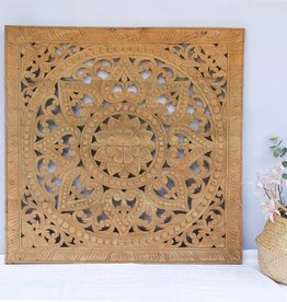 simply pure Hand carved wall panel Design SOLE natural
