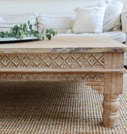 simply pure Handgemaakte salontafel met houtsnijwerk ( afmeting custom made)