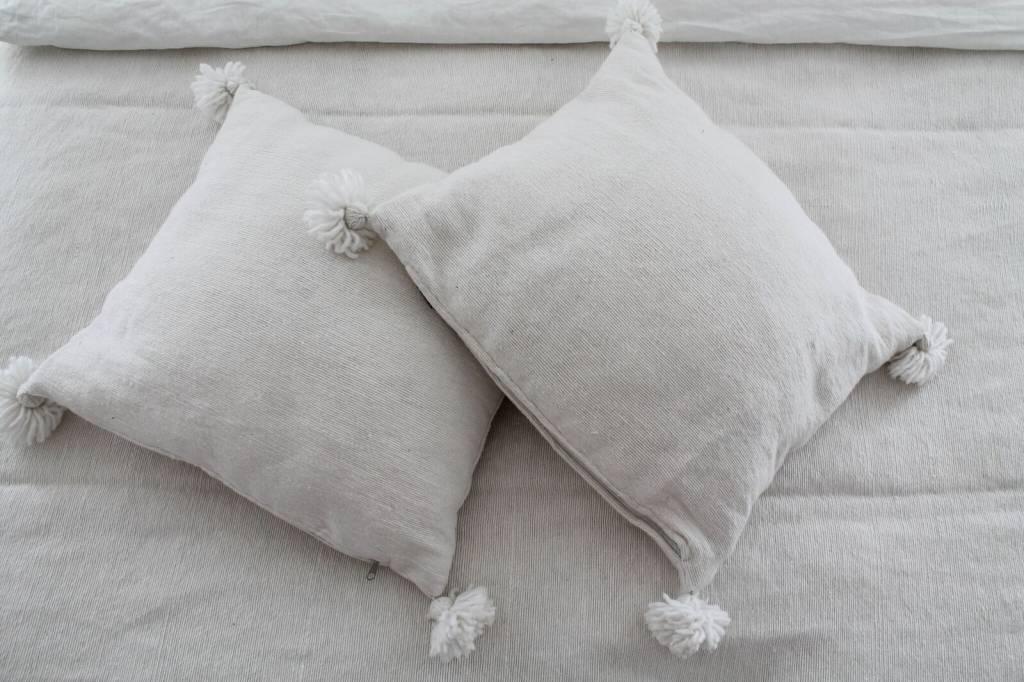 Marokkaanse pompom deken en kussens simply pure simply pure