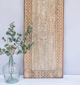 Geschnitzte Wandpaneele TIMOR, langes Format ( 150x150 cm)