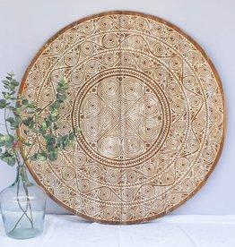 Geschnitzte Wandpaneele TIMOR, rund (verschiedene Durchmesser)