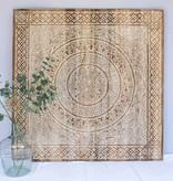 simply pure Geschnitzte Wandpaneele TIMOR, viereckig ( verschiedene Groessen), Farbe: Natur/Weiss