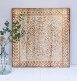 Hand carved wall panel TIMOR, square ( different sizes), colour: natural white