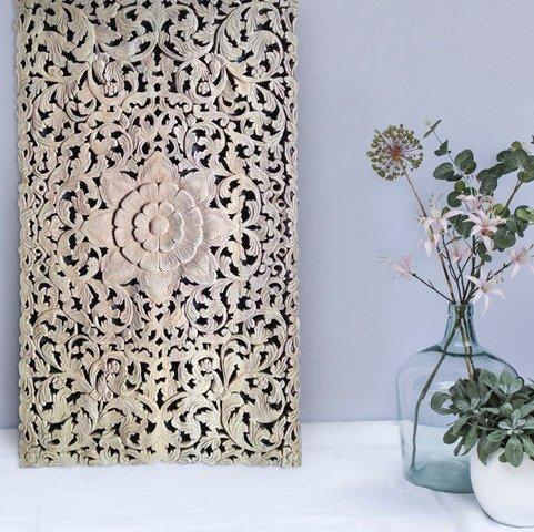 simply pure Houtsnijwerk wandpaneel LOTO RETTANGOLO, verschillende afmetingen en kleuren