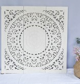 Handgeschnitzte Wandpaneele Design SOLE, Farbe: Weiss, verschiedene Abmessungen