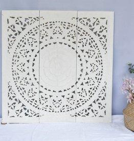 Geschnitzte Wandpaneele Design SOLE Farbe: Weiss, verschiedene Abmessungen